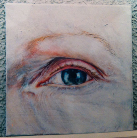 Eye painting with acrylics