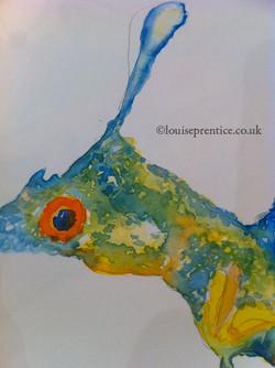 Leafy sea dragon watercolour example