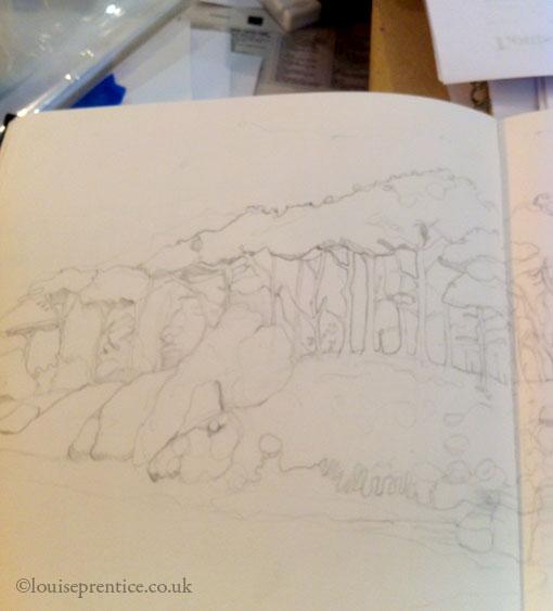 budleigh salterton sketch