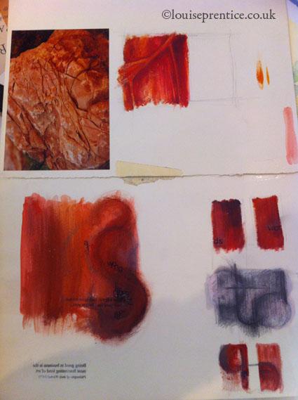 Painting reserach sketchbook example