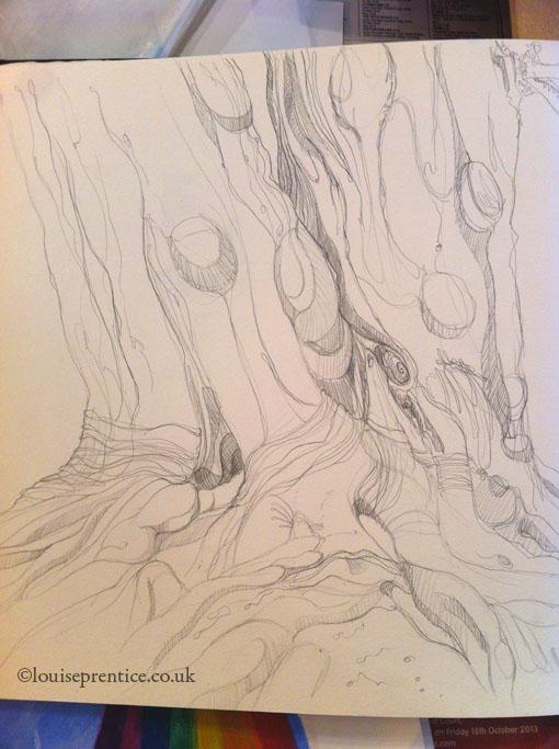 Contour tree sketch