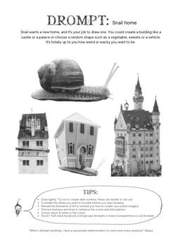 snail home drompt