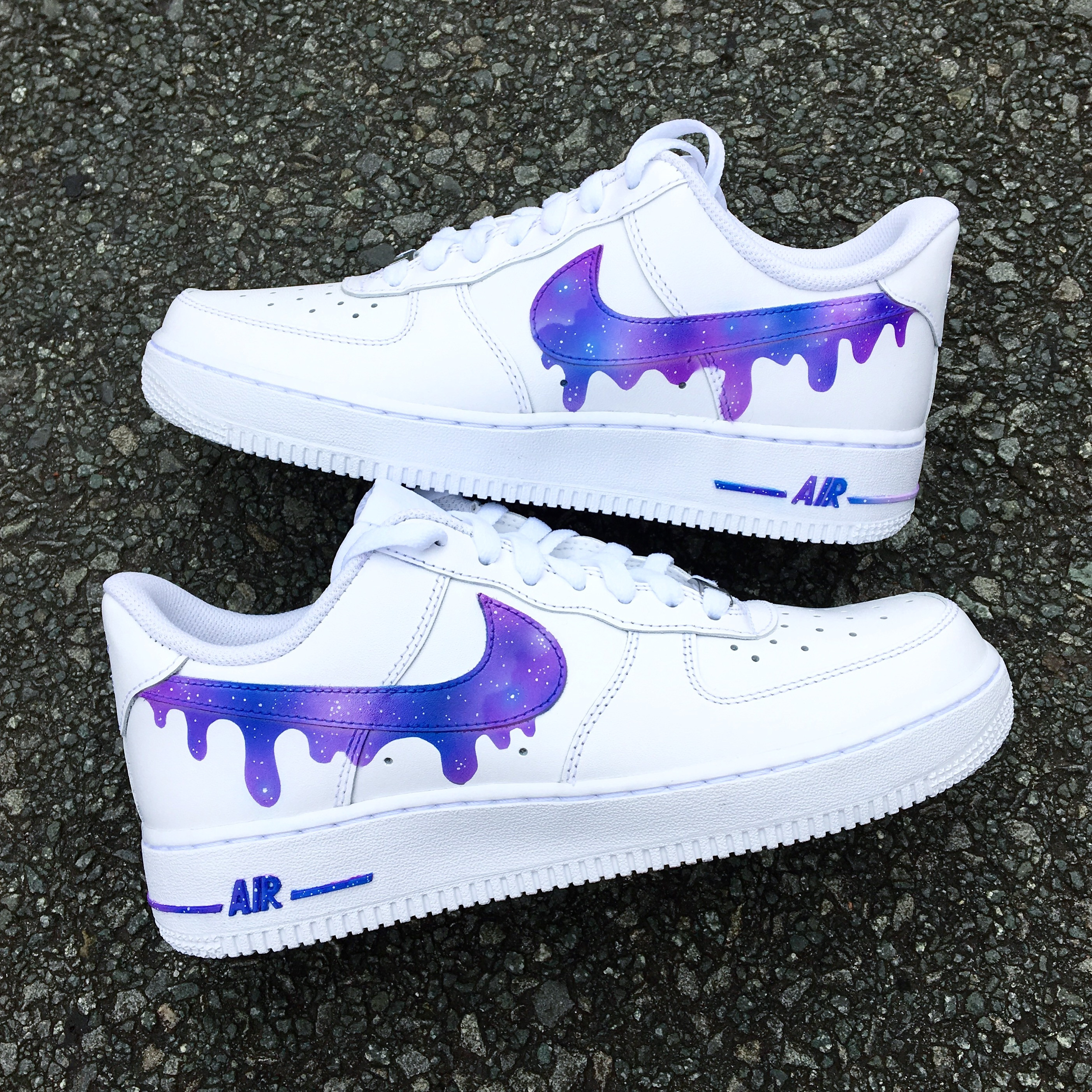 7f6ee1e4351af Galaxy drip swoosh Air Force 1
