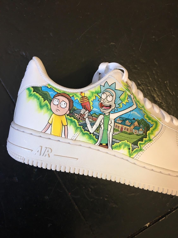 Custom Air Force Ones   Rick & Morty YouTube