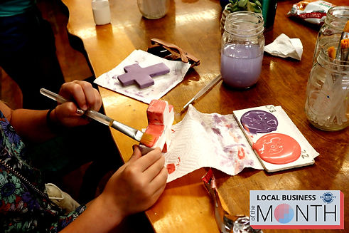 Painting crafts at Mountain Creative