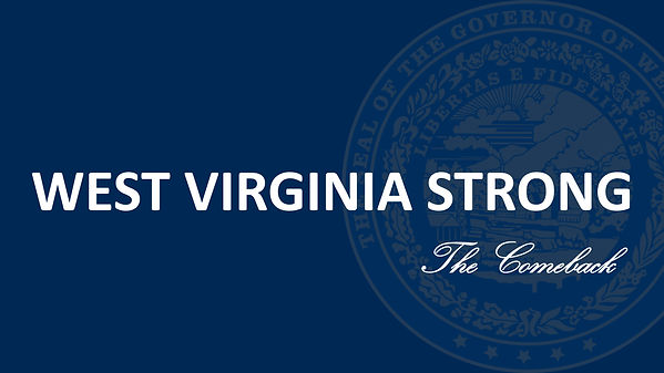 Logo for West Virginia Strong, the COVID-19 comeback plan