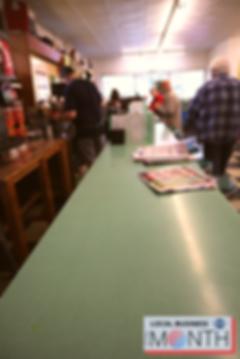 Diner bar at McAteer's.