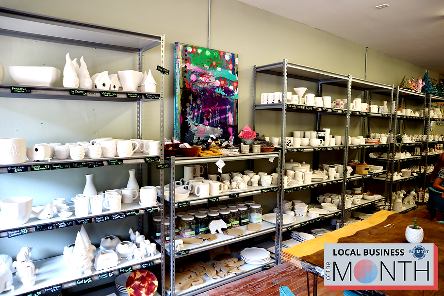Collection of paint your own pottery at the City of Fairmont