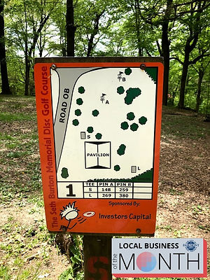 Morris Park Disc Golf map