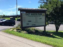 East Marion Park Sign