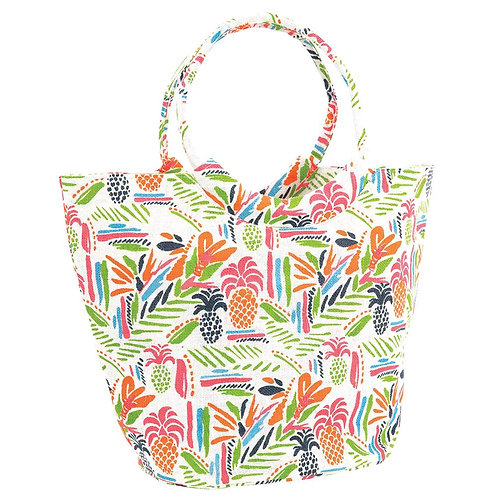 Tropics Lime blu Jute Bucket Bag