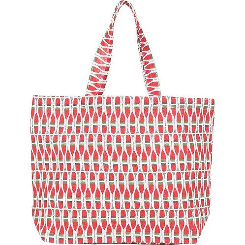 Paddles Jute Carryall Tote Bag