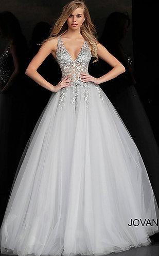 Crystal Embellished Bodice Ballgown