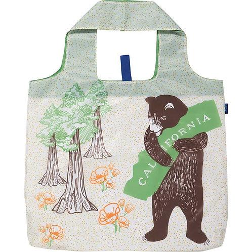 California Bear Blu Bag Reusable Shopping Tote