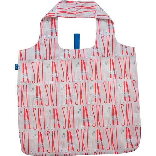 Alpine Ski Red Blu Bag Reusable Shopping Bags