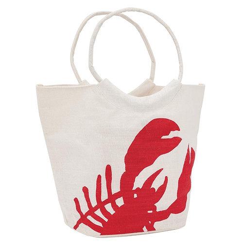 Red Lobster blu Jute Bucket Bag
