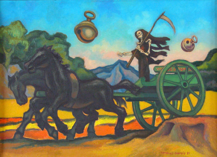 Título: Paisaje con carrito