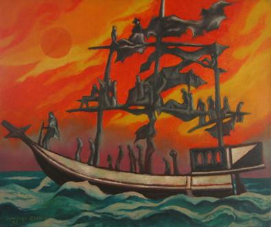 Título: La barca de las ánimas (Homenaje a Esther Barugel)