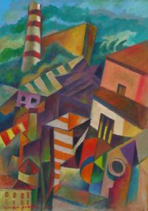 Título: Fábrica y casas en San Fili