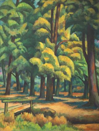 Título: Bosque y puente