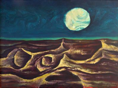 Título: Paisaje con luna