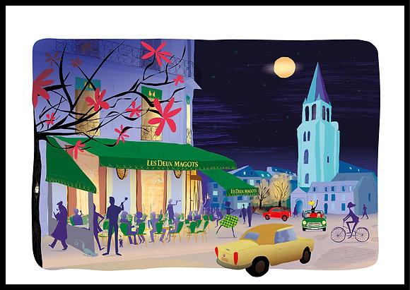 Saint-Germain-des-Prés la nuit