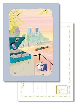 """Carte postale """" Le jour se lève sur Notre-Dame """""""