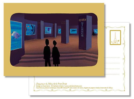 """Carte postale """" L'aquarium du Palais de la Porte Dorée """""""