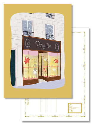 """Carte postale """" La parfumerie Detaille """""""