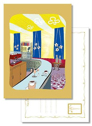 """Carte postale """" Au comptoir du Rouquet """""""