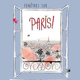 Une fenêtre s'ouvre sur Paris et la Tour Eiffel au loin