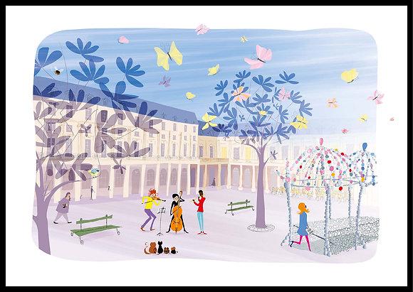 Orchestre et son public au Palais-Royal