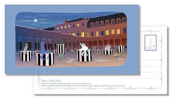 "Carte postale "" Festin au Palais-Royal """