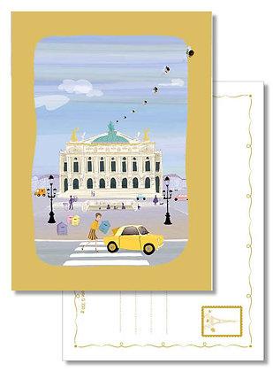 """Carte postale """" Ruches place de l'Opéra """""""