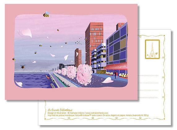 "Carte postale "" La Grande Bibliothèque """