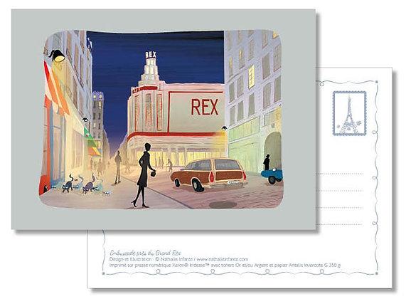 "Carte postale "" Embuscade près du Grand Rex """