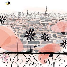 Paris, la Tour Eiffel, la Tour Montparnasse, et les fleurs de Paris !