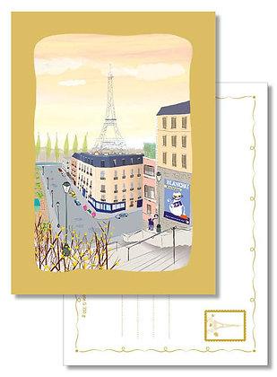 """Carte postale """" Vue depuis la colline de Chaillot """""""