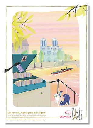 """Affiche """" Le jour se lève sur Notre-Dame """""""