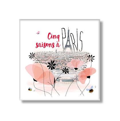 Magnet Cinq saisons à Paris