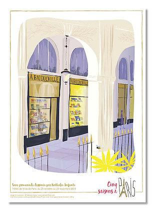 """Affiche """"Promenade sous les galeries du Palais-Royal """""""
