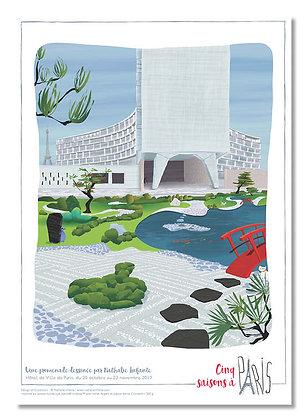 """Affiche """" Le jardin de l'Unesco """""""