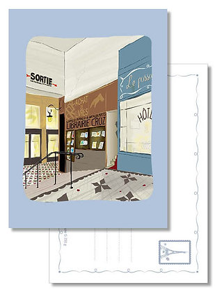 "Carte postale "" Passage Jouffroy """