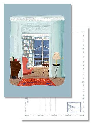 """Carte postale """" Intérieur parisien """""""