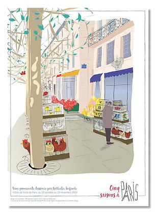 """Affiche """" Flânerie quai de la Mégisserie """""""