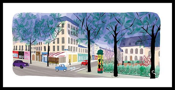 Angle du boulevard Saint-Germain et de la rue des Saints-Pères