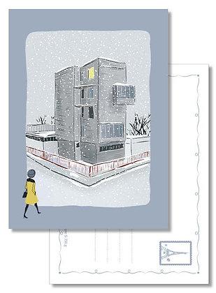 """Carte postale """" Quelque part sous la neige… """""""