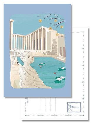 """Carte postale """" Les inquiétantes statues du musée d'Art Moderne """""""