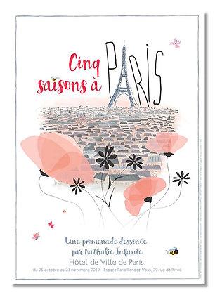 """Affiche """"Cinq saisons à Paris"""""""