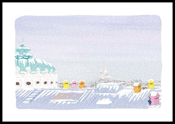 L'hiver sur les toits de l'Opéra